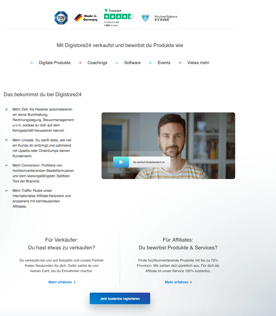 Digistore24 Webseite